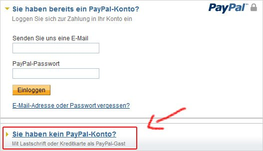 Paypal Ohne Anmeldung