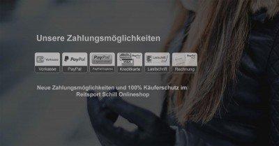 Zahlungsmöglichkeiten Reitsport Schill Onlineshop