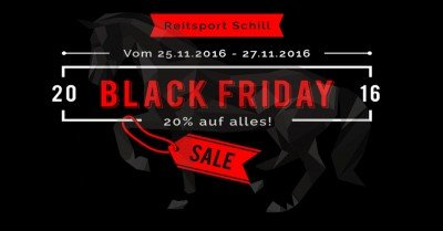 Black Friday Reitsport, Black Friday Reiterbedarf, Black Friday Reitsport Schill