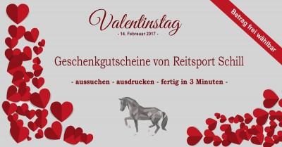 Geschenkgutschein Valentinstag Reitsport, Geschenk Valentinstag Reiten