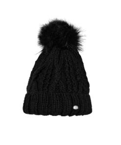 Pikeur Mütze mit Bommel, Pikeur Bommelmütze schwarz, Pikeur Wintermütze, Pikeur Strickmütze, Pikeur Muetze black