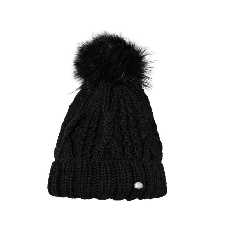 beliebte Geschäfte der Verkauf von Schuhen so billig Pikeur Mütze mit Bommel schwarz