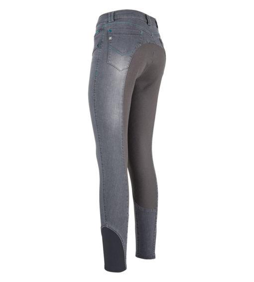 euro-star-Damenreithose-Chloe-FullGrip-Graphite, euro-star Reithose, Jeansreithose, Damenreithose Jeans