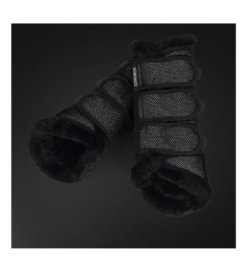 Eskadron-Platinum-Gamaschen-Faux-Fur-Black