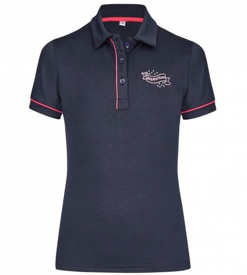 Busse Kinder Reitshirt Kids Collection Navy, Busse Kids Collection, Reitpolo Kinder,