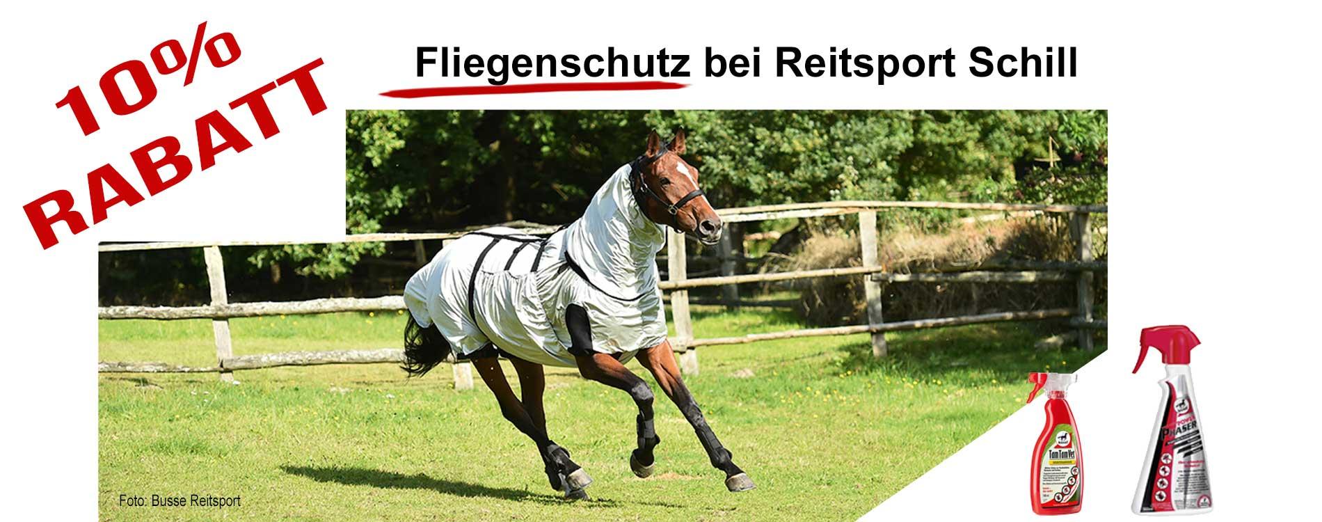 Fliegenschutz für Pferde, Fliegenspray, Fliegendecken, Fliegenmaske, Fliegenmaske