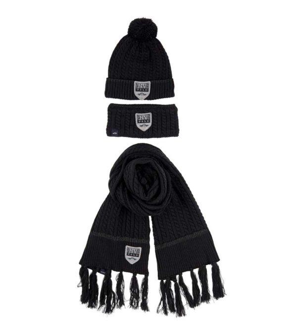HV-Polo-Set-Mütze-Schal-Stirnband-schwarz,